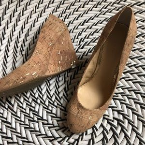 C. Wonder wedge Cork Pump shoe